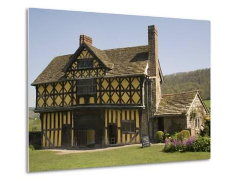 Gateway to Stokesay Castle, Shropshire, England, United Kingdom, Europe-Richardson Rolf-Metal Print