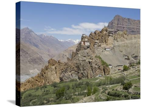 Dhankar Monastery, Spiti, Himachal Pradesh, India-Simanor Eitan-Stretched Canvas Print
