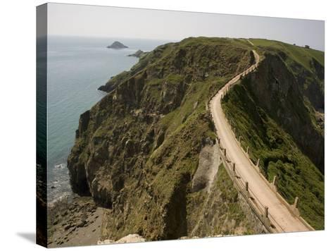 La Coupee, Sark, Channel Islands, United Kingdom, Europe-Richardson Rolf-Stretched Canvas Print