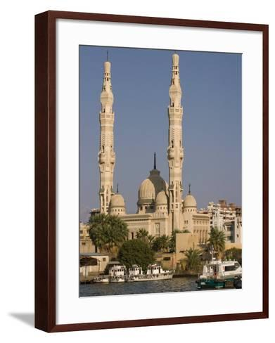 Port Fuad Mosque and the Suez Canal, Port Said, Egypt, North Africa, Africa-Richardson Rolf-Framed Art Print