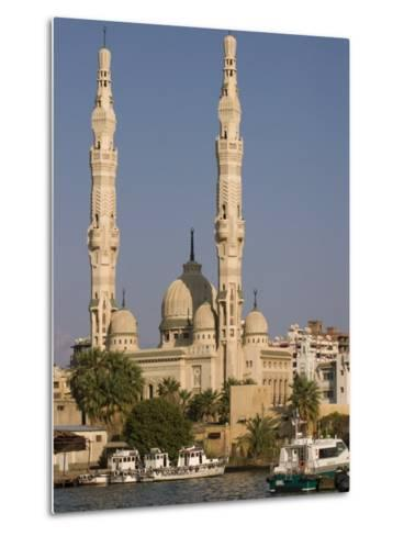Port Fuad Mosque and the Suez Canal, Port Said, Egypt, North Africa, Africa-Richardson Rolf-Metal Print