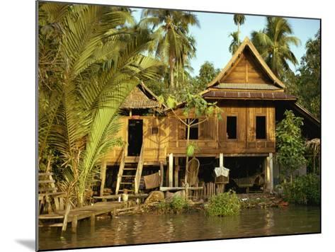 Traditional Thai House on Stilts Above the River in Bangkok, Thailand, Southeast Asia-Sassoon Sybil-Mounted Photographic Print