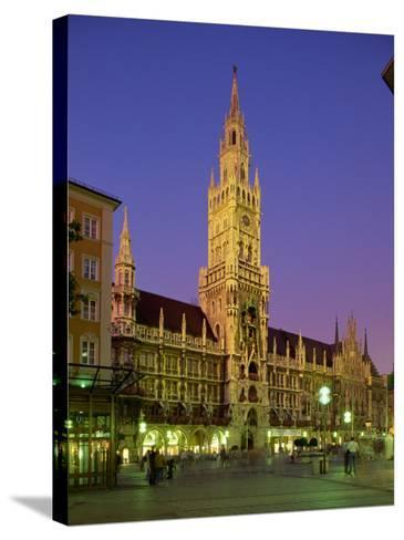 Town Hall at Night in the City of Munich, Bavaria, Germany, Europe-Scholey Peter-Stretched Canvas Print