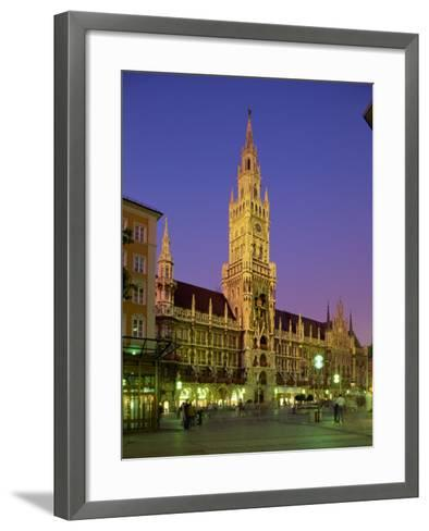 Town Hall at Night in the City of Munich, Bavaria, Germany, Europe-Scholey Peter-Framed Art Print