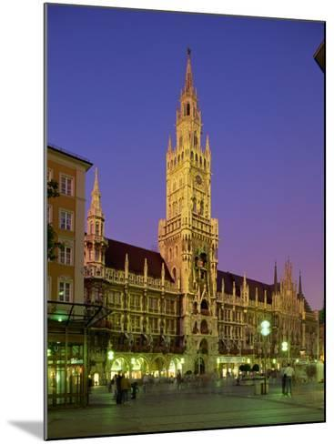 Town Hall at Night in the City of Munich, Bavaria, Germany, Europe-Scholey Peter-Mounted Photographic Print