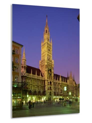Town Hall at Night in the City of Munich, Bavaria, Germany, Europe-Scholey Peter-Metal Print