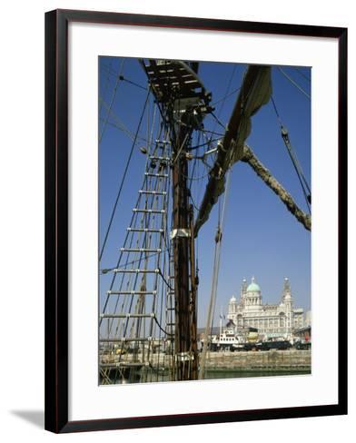 Waterfront and Dock Board Offices, Liverpool, Merseyside, England, United Kingdom, Europe-Scholey Peter-Framed Art Print