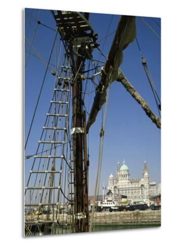 Waterfront and Dock Board Offices, Liverpool, Merseyside, England, United Kingdom, Europe-Scholey Peter-Metal Print