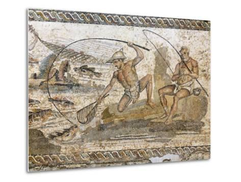 Roman Mosaic Dating from the 2 AD, from the Villa of the Nile at Leptis Magna, Tripoli, Libya-Rennie Christopher-Metal Print