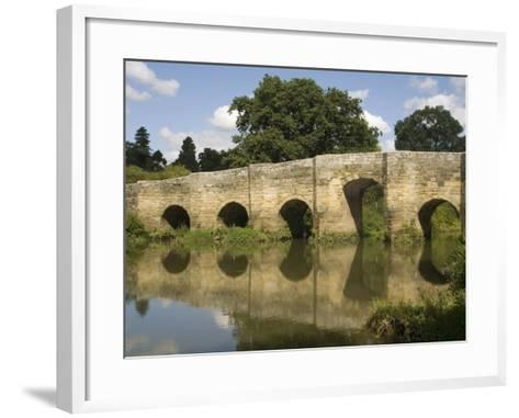 Stopham Bridge over River Arun, Near Pulborough, Sussex, England, United Kingdom, Europe-Richardson Rolf-Framed Art Print