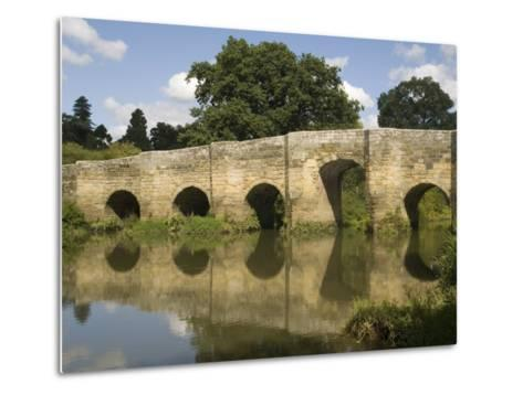 Stopham Bridge over River Arun, Near Pulborough, Sussex, England, United Kingdom, Europe-Richardson Rolf-Metal Print