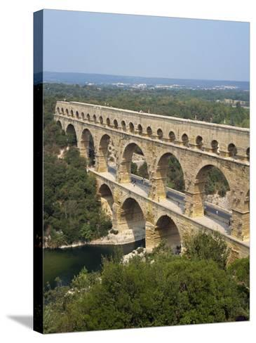 Roman Aqueduct, the Pont Du Gard, UNESCO World Heritage Site, in the Languedoc Roussillon, France-Scholey Peter-Stretched Canvas Print
