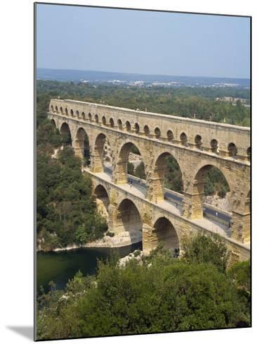 Roman Aqueduct, the Pont Du Gard, UNESCO World Heritage Site, in the Languedoc Roussillon, France-Scholey Peter-Mounted Photographic Print