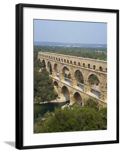 Roman Aqueduct, the Pont Du Gard, UNESCO World Heritage Site, in the Languedoc Roussillon, France-Scholey Peter-Framed Art Print