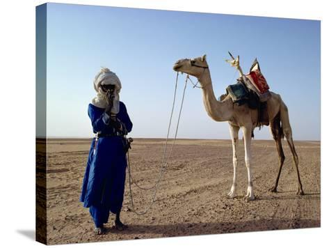 Tuareg Tribesman and Camel, Niger, Africa-Rawlings Walter-Stretched Canvas Print