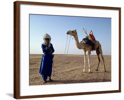Tuareg Tribesman and Camel, Niger, Africa-Rawlings Walter-Framed Art Print