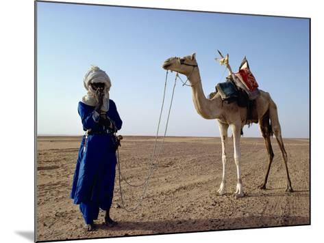 Tuareg Tribesman and Camel, Niger, Africa-Rawlings Walter-Mounted Photographic Print