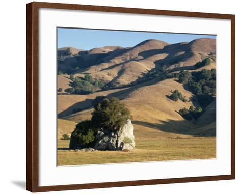 Coastal Hills of Marin County at Dusk, California, United States of America, North America-Rawlings Walter-Framed Art Print