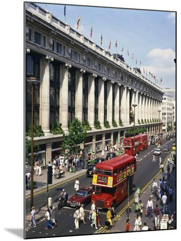 Selfridges and Old Routemaster Bus before They Were Withdrawn, Oxford Street, London, England-Rawlings Walter-Mounted Photographic Print
