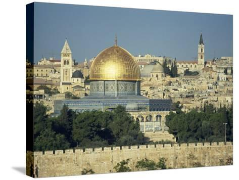 Dome of the Rock and Temple Mount from Mount of Olives, Jerusalem, Israel, Middle East-Simanor Eitan-Stretched Canvas Print