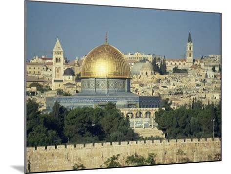Dome of the Rock and Temple Mount from Mount of Olives, Jerusalem, Israel, Middle East-Simanor Eitan-Mounted Photographic Print
