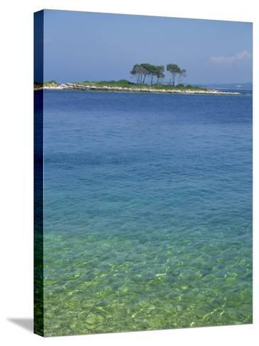 Clear Water Off Red Island, at Rovinj, Croatia, Europe-Short Michael-Stretched Canvas Print