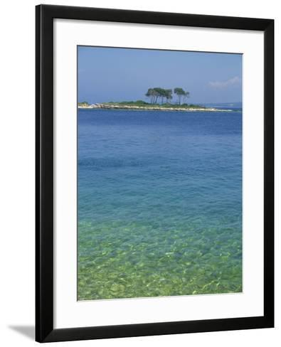 Clear Water Off Red Island, at Rovinj, Croatia, Europe-Short Michael-Framed Art Print