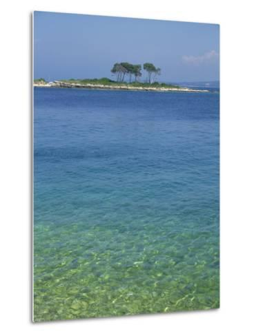 Clear Water Off Red Island, at Rovinj, Croatia, Europe-Short Michael-Metal Print