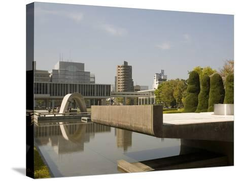 Cenotaph and Peace Museum, Hiroshima, Japan-Richardson Rolf-Stretched Canvas Print