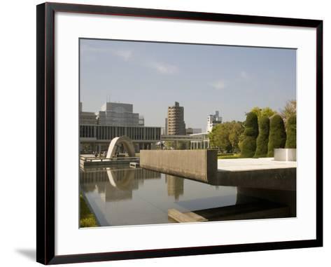 Cenotaph and Peace Museum, Hiroshima, Japan-Richardson Rolf-Framed Art Print
