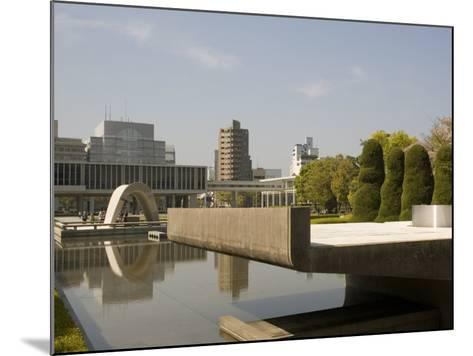 Cenotaph and Peace Museum, Hiroshima, Japan-Richardson Rolf-Mounted Photographic Print