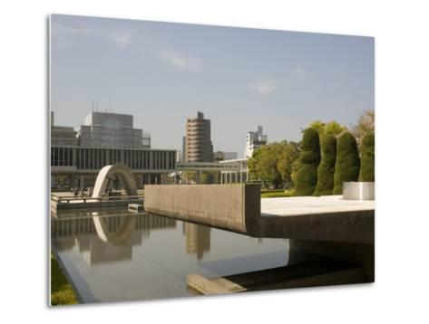 Cenotaph and Peace Museum, Hiroshima, Japan-Richardson Rolf-Metal Print