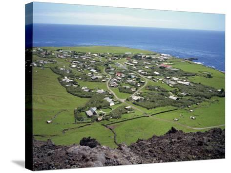 Settlement from the 1961 Volcanic Cone, Edinburgh, Tristan Da Cunha, Mid Atlantic-Renner Geoff-Stretched Canvas Print