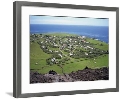 Settlement from the 1961 Volcanic Cone, Edinburgh, Tristan Da Cunha, Mid Atlantic-Renner Geoff-Framed Art Print