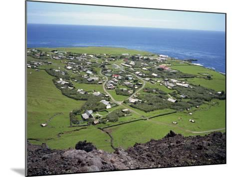 Settlement from the 1961 Volcanic Cone, Edinburgh, Tristan Da Cunha, Mid Atlantic-Renner Geoff-Mounted Photographic Print