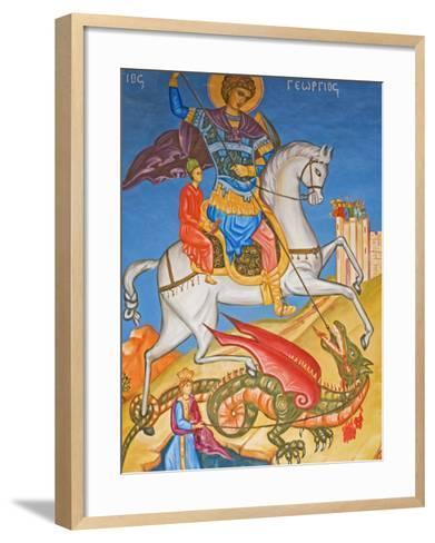 Painting in St. George's Church, Madaba, Jordan, Middle East-Schlenker Jochen-Framed Art Print
