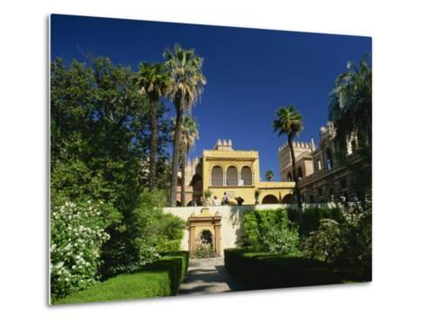 Gardens of the Reales Alcazares, Seville, Andalucia, Spain, Europe-Tomlinson Ruth-Metal Print