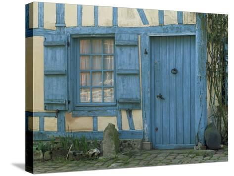 Ancient Timbered House with the Date of 1691 Carved Above Doorway, Gerberoy, Oise, Picardie, France-Tomlinson Ruth-Stretched Canvas Print