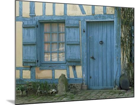 Ancient Timbered House with the Date of 1691 Carved Above Doorway, Gerberoy, Oise, Picardie, France-Tomlinson Ruth-Mounted Photographic Print