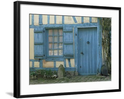 Ancient Timbered House with the Date of 1691 Carved Above Doorway, Gerberoy, Oise, Picardie, France-Tomlinson Ruth-Framed Art Print