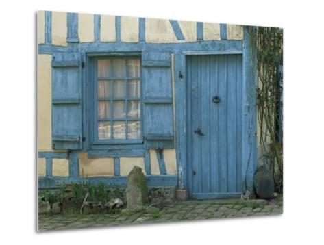 Ancient Timbered House with the Date of 1691 Carved Above Doorway, Gerberoy, Oise, Picardie, France-Tomlinson Ruth-Metal Print