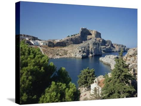 Lindos Acropolis on the Island of Rhodes, Dodecanese, Greek Islands, Greece-Teegan Tom-Stretched Canvas Print