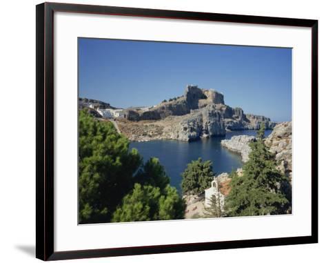 Lindos Acropolis on the Island of Rhodes, Dodecanese, Greek Islands, Greece-Teegan Tom-Framed Art Print