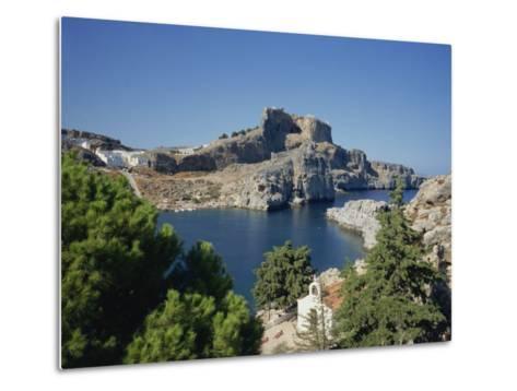 Lindos Acropolis on the Island of Rhodes, Dodecanese, Greek Islands, Greece-Teegan Tom-Metal Print