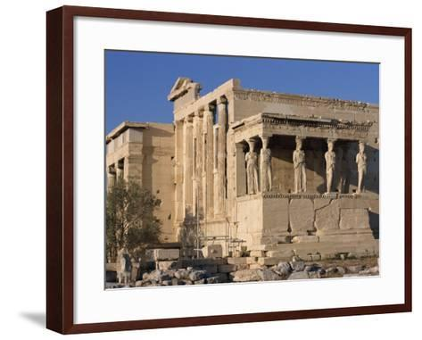 Caryatid Portico, Erechthion, Acropolis, UNESCO World Heritage Site, Athens, Greece, Europe-Thouvenin Guy-Framed Art Print