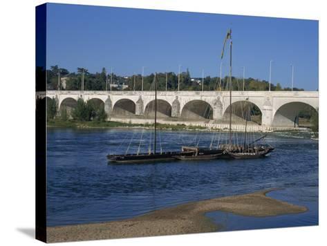 River Loire and Wilson Bridge, Tours, Centre, France, Europe-Thouvenin Guy-Stretched Canvas Print