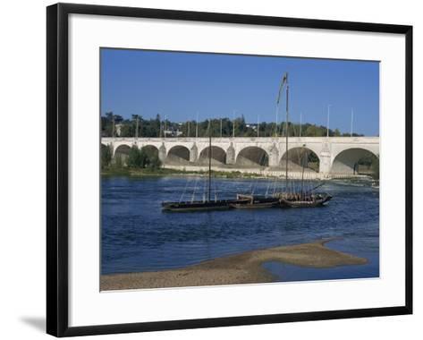 River Loire and Wilson Bridge, Tours, Centre, France, Europe-Thouvenin Guy-Framed Art Print