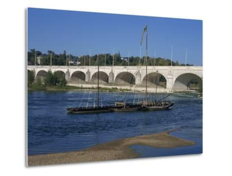 River Loire and Wilson Bridge, Tours, Centre, France, Europe-Thouvenin Guy-Metal Print
