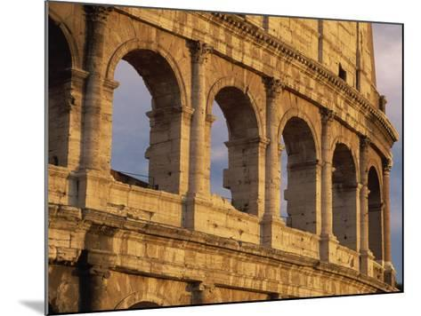 Detail of the Colosseum at Sunset, Rome, Lazio, Italy, Europe-Tomlinson Ruth-Mounted Photographic Print