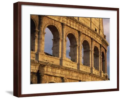 Detail of the Colosseum at Sunset, Rome, Lazio, Italy, Europe-Tomlinson Ruth-Framed Art Print